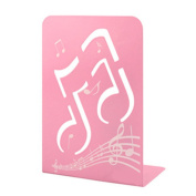 Music Note Book Pink Stand Mark Metal Book File Book End