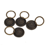 4pcs Door Ring Pull Handle Knob Decor for Cupboard Cabinet Drawer