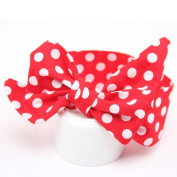 Alonea Baby Girls Cotton Big Bow Headband Elastic Hair Wrap for Newborns Elastic Dot Shower Party Hair Head Band Hair Accessaies