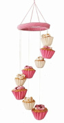 Silk Road Bazaar Cupcakes Mobile, Pink/White