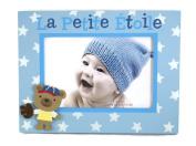Baby Boy Blue Teddy Bear French Picture Frame - La Petite Etoile