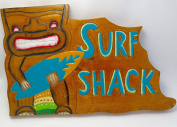 SURF SHACK, LARGE WALLK PLKQUE, 9 1/2 X 15 WOOD SOUVENIR SIGNWall decor....