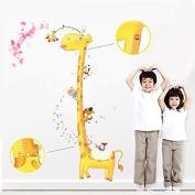 Removable Giraffe Height Wall Sticker Home Decor Decal Poster