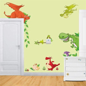 DIY Removable Dinosaur Park Decal Home Kids Bedroom Decor Wall Sticker Wallpaper