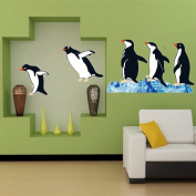 Cute Penguin Art Decal Removable Wall Sticker Animal Room Decor Environmental Protection