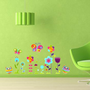 Kids Room Decor Owl Butterfly Flower Nursery DIY Removable Wall Sticker Decal
