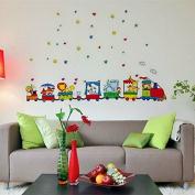 Animals Zoo Cars Train Wall Stickers Decor Kids Bedroom