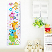 Giraffe Height Measuring Room Ruler Self DIY Adhesive Removable Wall Stickers Kids Children Decoration