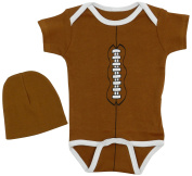 Unisex Baby Football Short Sleeve Creeper with Hat