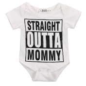 Baby Girl Boy Clothes Straight Outta Mommy Bodysuit Romper Jumpsuit Outfits