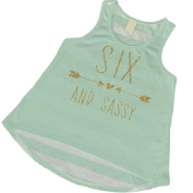 6th Birthday Shirt, Six and Sassy Tank Top, Six Year Old Girl Gifts
