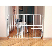 Tuffy Metal White 70cm - 110cm Wide x 60cm Tall Expandable Pet Gate