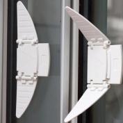 2Pcs Child Safety Locks Windows Doors Lock Protector Security Sliding