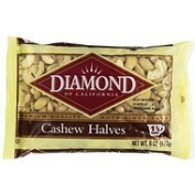 Diamond Nuts of California Cashew Halves, 180ml Thank you to all the patrons We hope that he has gained the trust from you again the next time the service