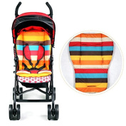 Baby Stroller Thicken Cotton Mat Stripe Cushion Seat Pad BB Car Accessory