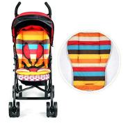 Baby Stroller Thicken Cotton Mat Stripe Cushion Seat Pad BB Car Accessory