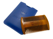 Wooden Beard Comb & Case from Striking Viking - Anti-Static and Hypoallergenic Wood Pocket Comb For Beards & Moustaches