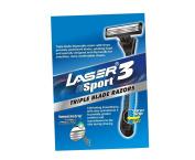 LASER SPORT 3 Triple Razor Blades Superior Smoothness & Comfort