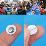 100Pcs 10mm 3D Black Moving Wiggly Wobbly Googly Eyes Children Kids DIY Bear Doll Scrapbooking Toys