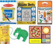 Travel Toy Activity Bundle for Kids - Busy Bag Games for Car and Aeroplane travel