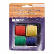 4 Spools Super-lon #18 Cord Ideal for Stringing Beading Crochet and Micro-macram Jewellery Compatible with Kumihimo Projects S-lon Primary Mix
