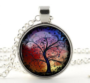 1 X Silver Charm & Chain- Tree of Life Necklace Pendant - Gifts for Her Mum Girls