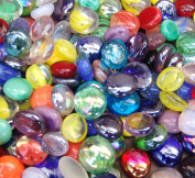 Creative Stuff Glass - 0.9kg - Mixed Colours Glass Gems - Vase Fillers
