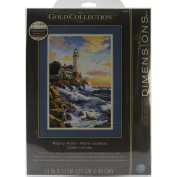 "Brand New Gold Collection Rocky Point Counted Cross Stitch Kit-28cm ""X17"""" 18 Count Brand New"
