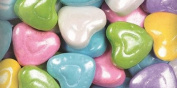 Sweetworks Shimmer Pastel Heart Shapes Candies Peg Pouch, 45ml, Multicolor