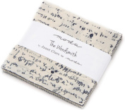 The Wordsmith Charm Pack By Janet Clare; 110cm - 13cm Precut Fabric Quilt Squares