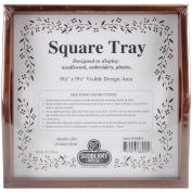 Sudberry House Small Square Tray, 25cm x 25cm , Mahogany
