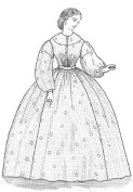 1863 Sheer Dress Pattern