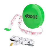eBoot 150cm Green Retractable Measuring Tape Ruler and Soft Tape Measure Set for Sewing Tailor Cloth