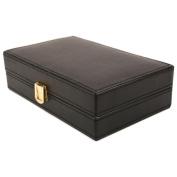 Executive High class crocodile leather Cufflink Case & Ring Storage Organiser Men's Jewellery Box