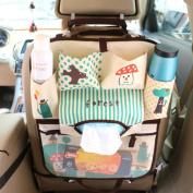 XIQI Backseat Car Organiser,Folding Mummy Shoulder Bag,Kids Toy Storage,Back Seat Protector,Multi-pocket Travel Storage Bag Auto Car,Kick Mats For Baby Travel Accessories,Blue