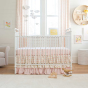 Carousel Designs Pale Pink and Gold Chevron 2-Piece Crib Bedding Set