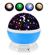 HJIAN LED Night Light Projector Lamp 3 Models Light Kids Bedroom Children's Room Romantic Rotating Cosmos Star Sky Moon Projector Baby Nursery Décor Decorative Light