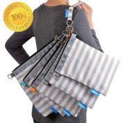 Nappy Bag Organiser Pouches, 4 Mesh inserts and 1 Wet bag, Set of 5 Versatile Files - Gadikat