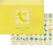 Baby's First Year Undated Keepsake Calendar with Milestone Stickers