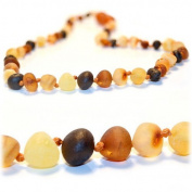 The Art of Cure Raw Amber Teething Necklace - FTIR Lab Tested Authentic Amber