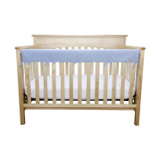 CribWrap Medium Jersey Knit Front Rail Cover in Blue