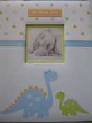 Pearhead L'il Peach Baby Record Book Boy Blue Dinosaur Scrapbook Photo Album by Pearhead