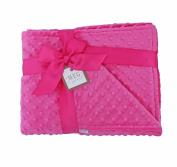 MEG Original Hot Pink Minky Dot Baby Girl/Toddler Crib Blanket 643