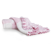 CoCaLo Mix & Match Patchwork Fur Blanket, Pink