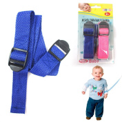2 Child Safety Wrist Link Baby Toddler Harness Leash Adjustable Blue Pink Kids