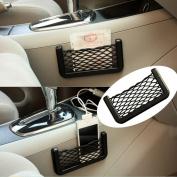 Asdomo Generic Car Trunk Storage Net Resilient String Bag Fits Phone Holder Pocket Organiser Car Seat Side Back
