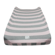 Burt's Bees Baby Bold Stripe Organic Changing Pad Cover, Blossom