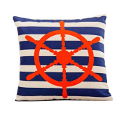 Sailor Steering Wheel Retro Home Decorative Pillow Cover Cotton and Linen Pillow Cases Throw Pillow Covers