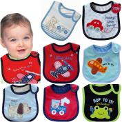 Lovely Cotton Embroidered Bibs 7 Pack 7 days week newborn gift pack super absorbent drool bibs , baby shower gifts , boys , girls, unisex