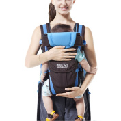 4 Positions Baby Carrier Breathable Functional Sling Front Back Kangaroo Newborn Wrap Blue
